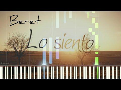 Beret - Lo siento | Piano Tutorial