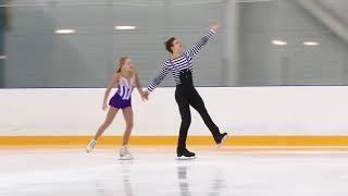 Первенство России в парном катании танц Парное катание KMC Произвольная программа 8 Анна ЩЕГЛОВА