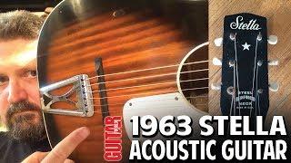 DEMO:  1963 Stella H929 Acoustic Guitar by Harmony - A slide blues machine!