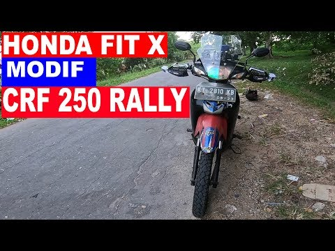 REVIEW SUPRA FIT | HONDA FIT X 2008 | MODIF CRF 250 RALLY DAKAR