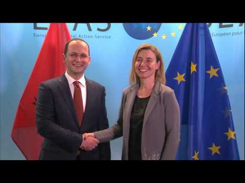 HRVP Mogherini with Albanian Foreign Minister, Ditmir BUSHATI