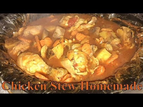 Homemade Chicken Stew Recipe EASY - HOW TO MAKE CHICKEN STEW IN THE SLOW COOKER