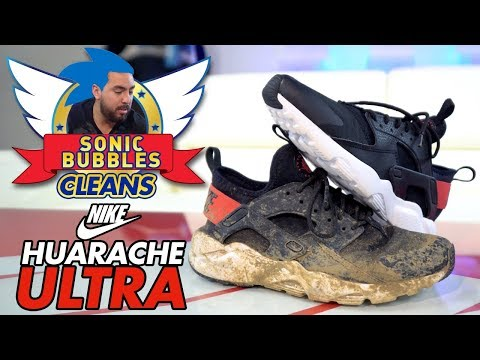 Sonic Bubbles Cleans a Nike Huarache Ultra