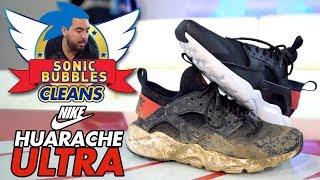Sonic Bubbles Cleans a Nike Huarache Ultra