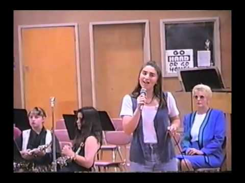 Sara Bareilles singing in jr high.