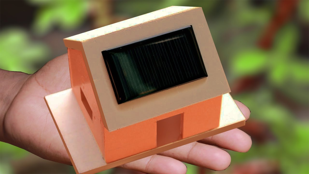 How To Make A Solar House School Project Youtube