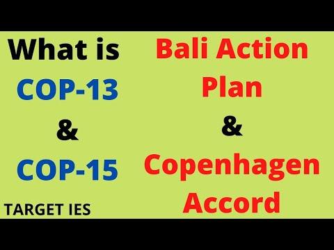 Bali Action plan -COP13 | Copenhagen Accord -COP 15| Conference of Parties-UNFCCC