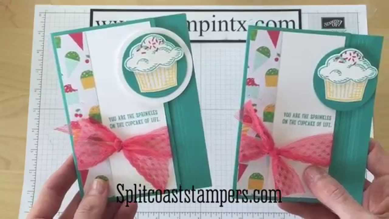 Latch Card Tutorial Using Stampin Up Sprinkles Of Life