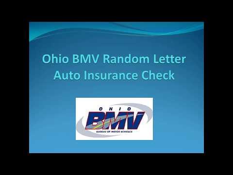 Ohio BMV Random Letter Auto Insurance Check