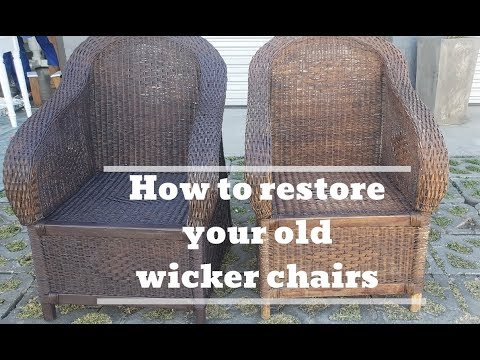 How To Restore Wicker Chairs | Make Your Cane Chairs Look New Again | 2019