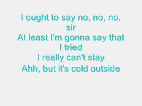 Its Cold Outside(Females Part) - Zooey Deschanel - Lyrics