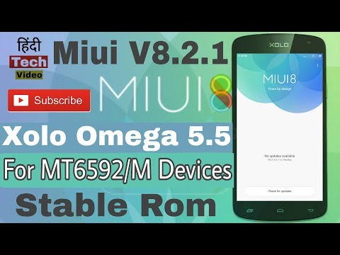 Miui 8 v8.2.1 Rom for Xolo Omega 5.5 & other's MT6592/M Devices·Hindi Tech Video