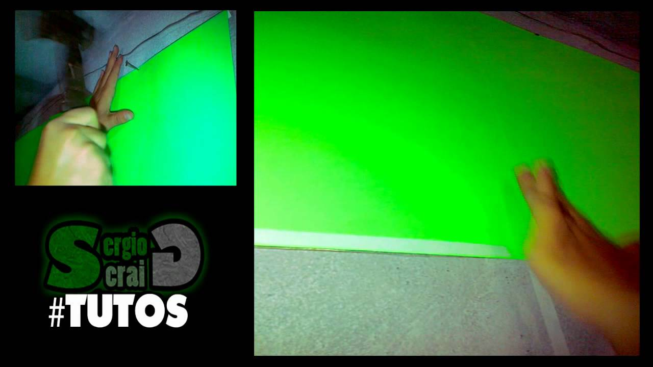 Tutorial como hacer una pantalla verde green screen - Materiales para hacer una pared ...