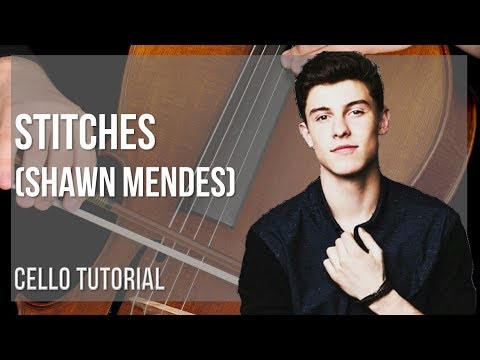 How to play Stitches by Shawn Mendes on Cello (Tutorial)