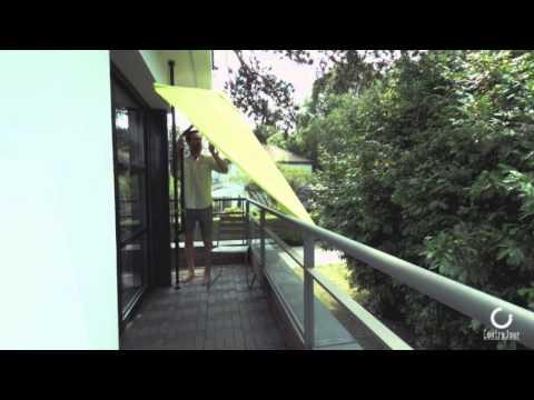Parasol de balcon leo anis youtube - Parasol rectangulaire inclinable castorama ...