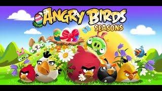 Angry Birds Seasons ч.7 Ham Dunk, On Finn ice, Tropigal Paradise (стрим на канале player00713)