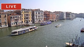 Venice Italy Live Cam - Grand Canal in Live Streaming from Ca' Angeli