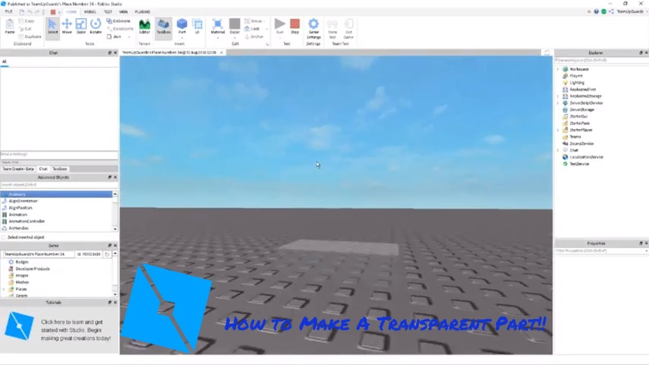 Roblox How To Change Transparency With A Script On Roblox Studio