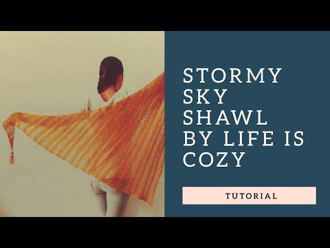 Stormy Sky Shawl - Tutorial - einfaches Tuch stricken