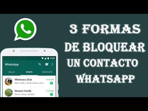 3 Formas De Bloquear Un Contacto De  Whatsapp