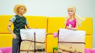 Мультики для девочек. Барби и Кен перепутали чемоданы в аэропорту