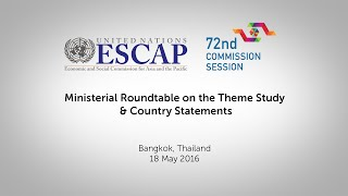 CS72: Ministerial Roundtable on the Theme Study & Country Statements