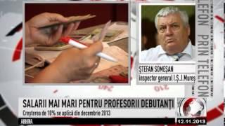 SALARII MAI MARI PENTRU PROFESORII DEBUTANȚI (2013 11 12)