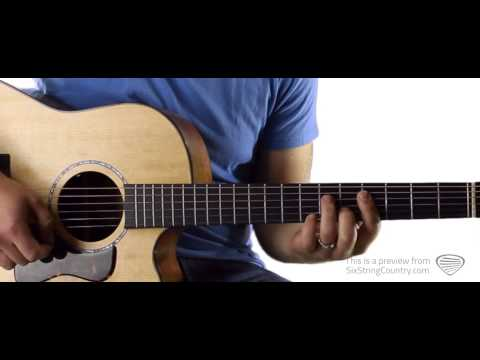 Downtown Lady Antebellum Guitar Lesson and Tutorial