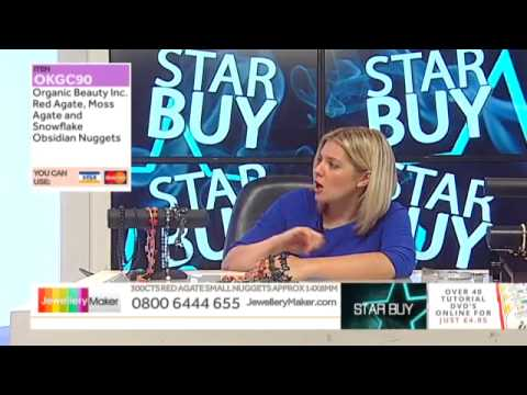 Blue Sapphire Graduated Faceted on The Late Show (JewelleryMaker) LIVE 26/03/2015