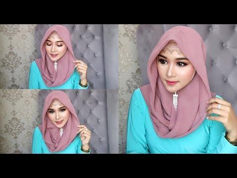 Cara Make Up Terkesan Natural Tapi Kekinian Dan Hijab Simple Muka Tembem Youtube