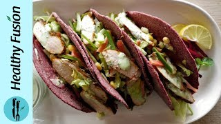 Beetroot Tacos With Grilled Chicken Recipe By Healthy Food Fusion