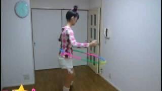 美咲あいちゃんが、アイドル選手権PUSU☆1で披露したフラフープの練習風...