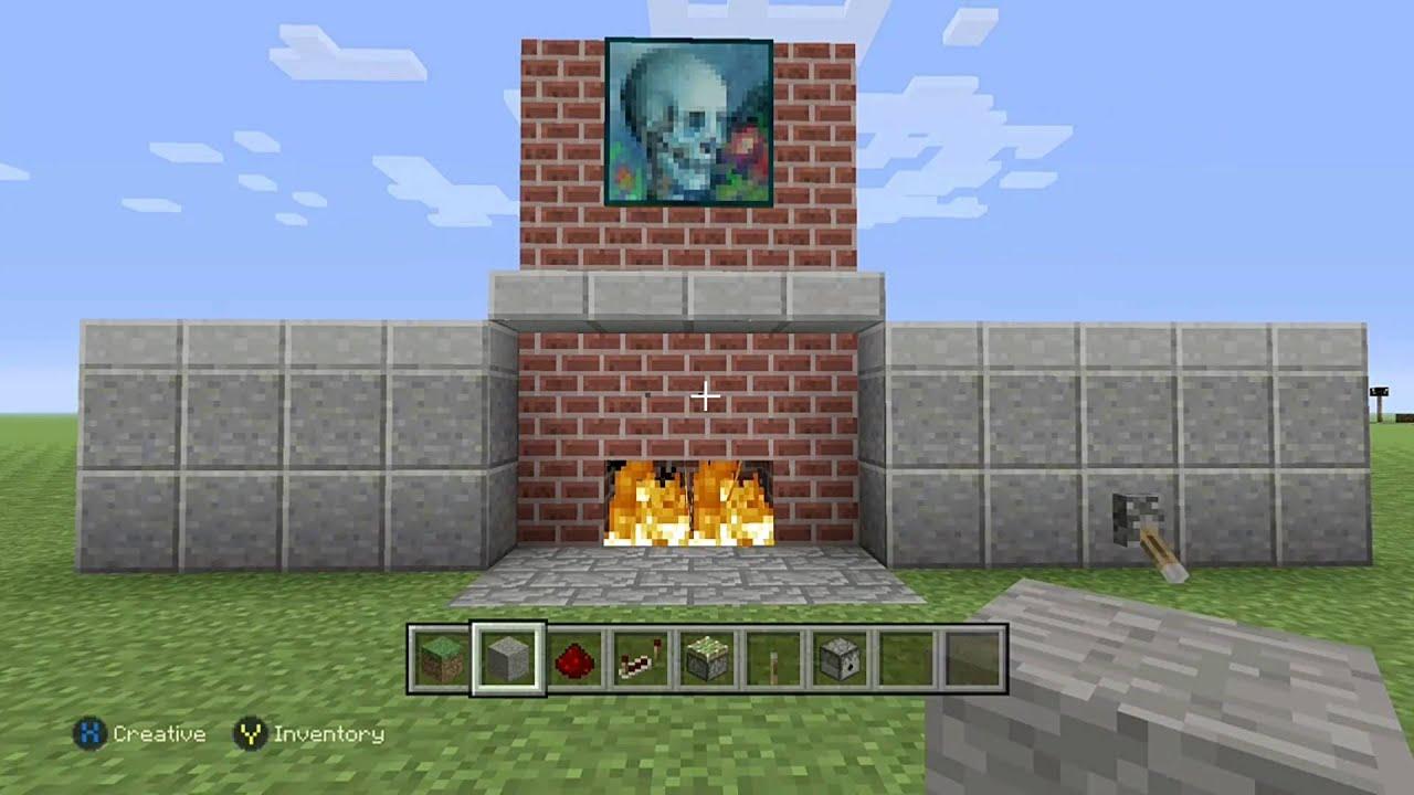 hidden fireplace door for minecraft xbox one edition