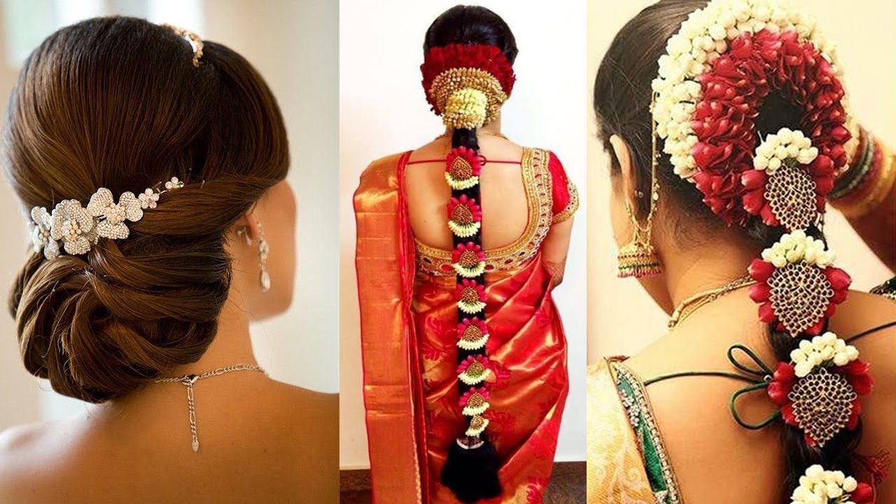 Simple Indian Bridal Hairstyle Tutorial Perfect Bridal Bun And Bridal Plait Wedding Hairstyles