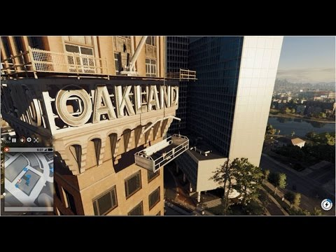 WATCH DOGS 2 PARKOUR ESCAPE LEADS TO THE TALLEST BUILDING IN OAKLAND!!!