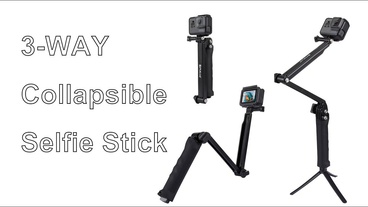 3-Way Handheld Mini tr/ípode Soporte de Brazo Accesorios de Tiro para GoPro Hero 7 6 5 Selfie Stick