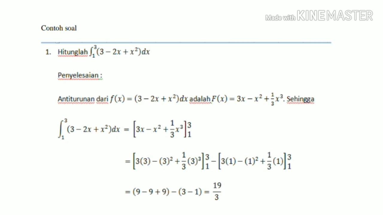 Teorema dasar kalkulus pertama …. Teorema Dasar Kalkulus Dan Metode Subsitusi Youtube