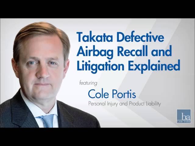 Takata airbag recall explained by Beasley Allen shareholder Cole Portis on Ringler Radio