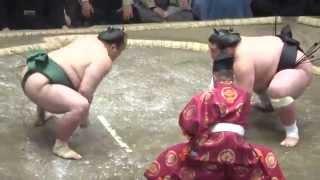 20150515 大相撲夏場所6日目 照ノ富士vs北大樹.