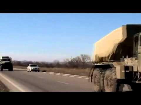 Column MLRS Grad militia LC derived from Debaltsevskogo boiler 25.02.2015.Ukraine War,News Today!