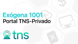 Formato Exógena 1001 en Portal TNS - Privado