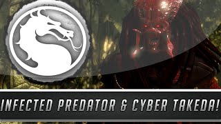 Mortal Kombat X: New Infected Predator & Cyber Takeda Skins/Costumes Gameplay! (PC Mod Showcase)