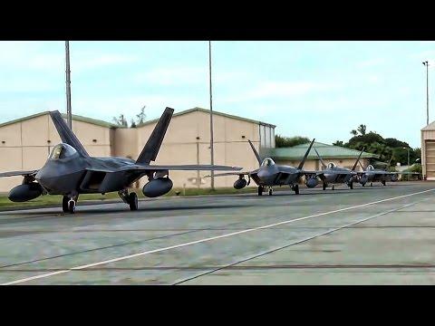 F-22 Raptors Deploy For Middle East Hotspot