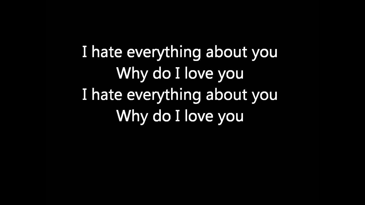 Three Days Grace - I Hate Everything About You Lyrics Meaning