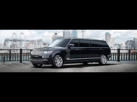 [4k] HUGE Klassen Range Rover limousine / stretch at Geneva International Motor Show 2018