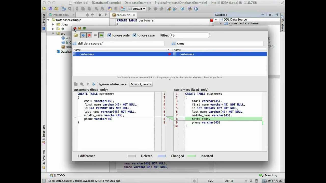 Database Tools and SQL Support in IntelliJ IDEA