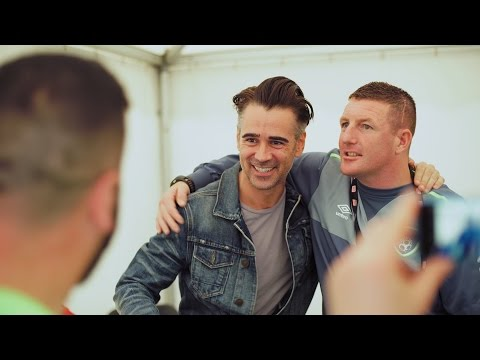 Team Ireland Had a Special Visit from Homeless World Cup Ambassador Colin Farrell