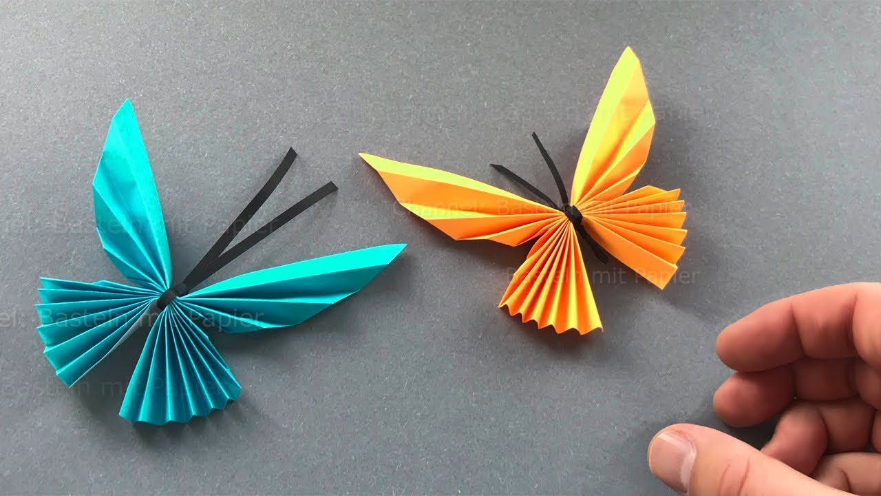 Origami Butterfly How To Fold A Butterfly With Of Paper