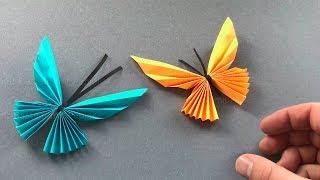 Origami Schmetterling basteln mit Papier 🦋 Bastelideen für Geschenke & Deko
