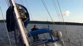 'Occus' sailing in Falmouth Bay 2012 Bob and Molly Hudson